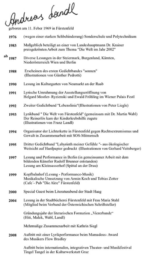 Lebenslauf von Andreas Landl