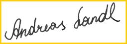 Andreas Landls Signatur